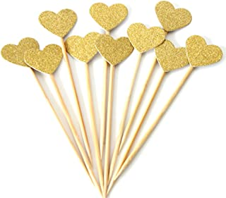 Best gold heart cupcake toppers Reviews
