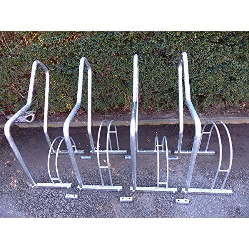 Melzer Metallbau Fahrradständer mit Anlehnbügel - 4 Einstellplätze - feuerverzinkt - Anlehnbügel für Fahrräder Bügelparker Fahrradanlehnbügel Fahrradhalter Fahrradparker Fahrradständer Fahrräderständer Reihenständer Ständer für Fahrräder Zweiradparker