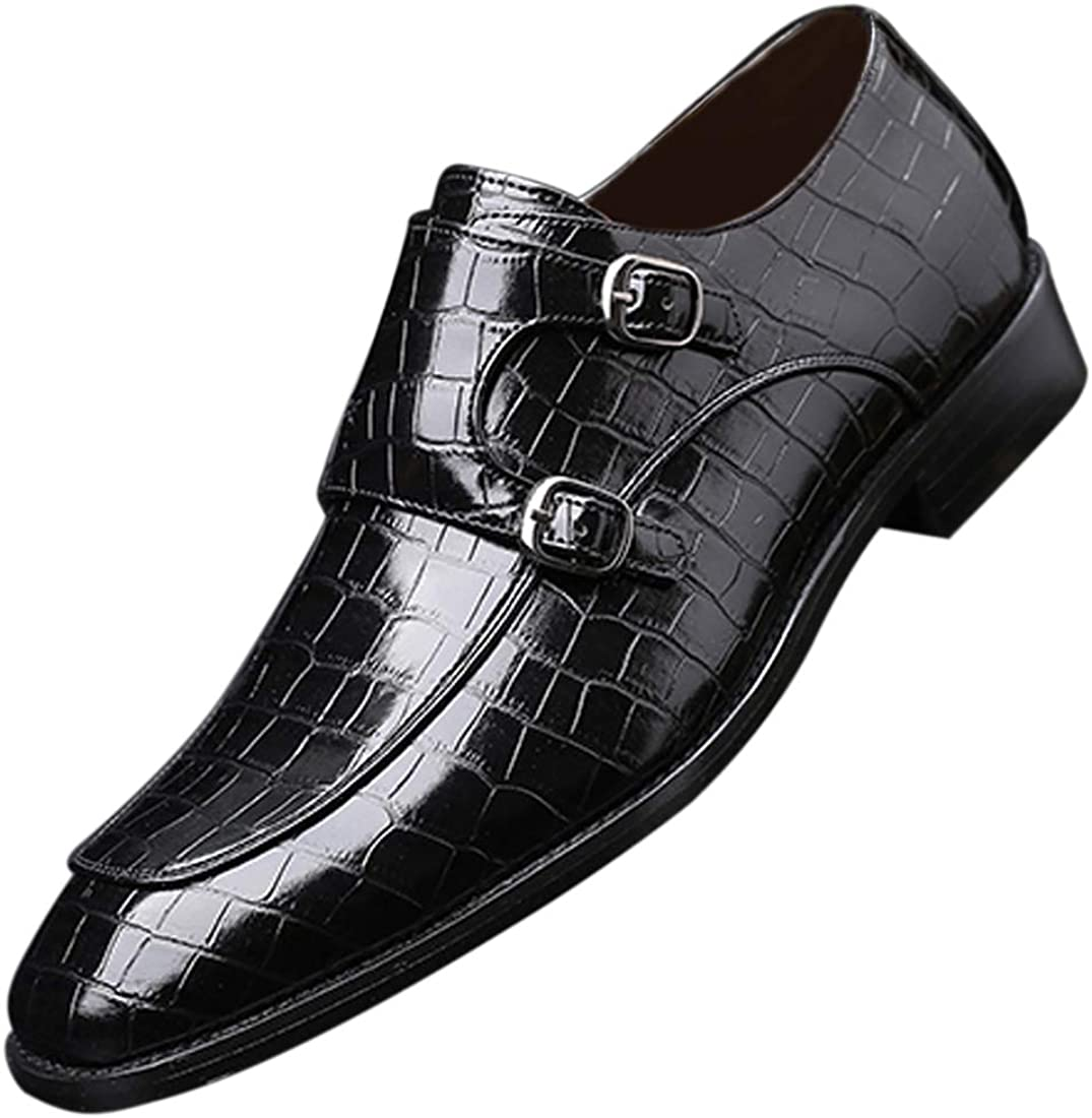 Mens Double Monk Strap Slip on Business Loafer shipfree Free Shipping Cheap Bargain Gift Leather Ca Formal