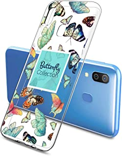 Oihxse Silicone Transparente Case avec Motif Papillon Compatible pour Samsung Galaxy A11 Coque Souple TPU Gel Mode 3D Dess...