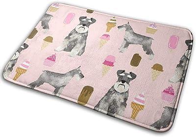 """Schnauzer Ice Cream Dog Breed Pure Breed Pink_27381 Doormat Entrance Mat Floor Mat Rug Indoor/Outdoor/Front Door/Bathroom Mats Rubber Non Slip 23.6"""" X 15.8"""""""