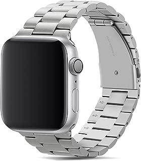 Tasikar コンパチブル Apple Watch バンド 44mm 42mm プレミアムステンレススチールメタル交換バンド Apple Watch シリーズ5 / 4 (44mm) シリーズ3 / 2 / 1 (42mm)用 (銀)