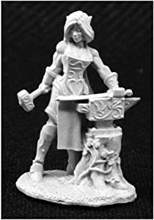 Reaper Larill Silverhand Elf Blacksmith Miniature 25mm Heroic Scale Dark Heaven Legends Miniatures