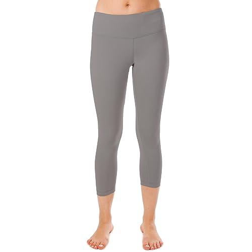 012cdd6aa062 90 Degree By Reflex Power Flex Yoga Capri – Cationic Heather Activewear  Pants