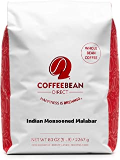 Sponsored Ad - Coffee Bean Direct Indian Monsooned Malabar, Whole Bean Coffee, 5 Pound Bag