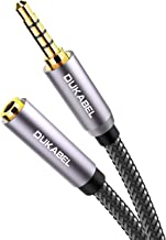 DuKabel Top Series Long 3.5mm Extension (16 Feet / 5 Meters) TRRS 4-Pole Headphone Cable Male to Female 3.5mm Audio Cable Crystal-Nylon Braided/ 24K Gold Plated/ 99.99% 4N OFC Conductor