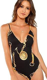 Women's Sleevless Deep V Neck Spaghetti Strap Cami Bodysuit