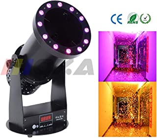 AZALMU 1500W LED Confetti Machine Cannon with 12x3W RGB Light DMX Control for Stage Special Effect Wedding DJ Club