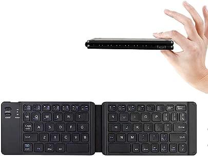 FFDDZJJ Leichte und handliche Bluetooth 3 0 Klapptastatur  Faltbare Bt Wireless-Tastatur f r IOS Android Windows iPad Tablet Phone China Black B05
