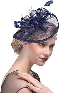 Yujeet Mujeres Florales Forma Sombreros Y Tocados De Plumas Moda Transparente Hecho A Mano Completo De La Novia Headwear Para El Cóctel De La Boda