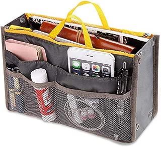 Zoeyeahi Women Portable Organizer Bag Multifunction Travel Compartment Handbag