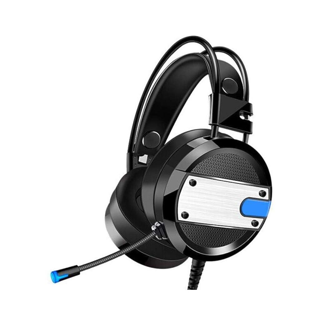 伝染性のマイクロフォンパントリーGGYY 推奨されるモバイルゲームをプレイするにはマイク付きヘッドフォンコンピュータのヘッドセットヘッドセット (Color : Black blue)