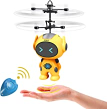 Flying Ball Fairy Drone Helicopter Robot Toys for Kids Boys Girls 6 7 8 9 10 Year Old Gifts,Rechargeable Light Up Flying D...