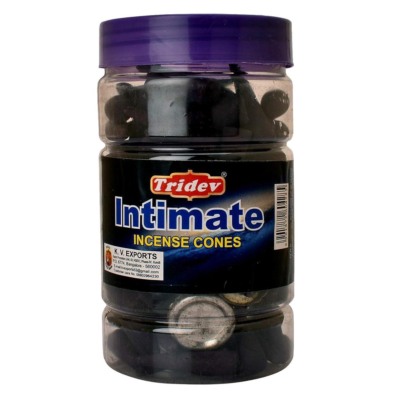 生む捕虜ラフ睡眠Tridev Intimate Fragrances お香用コーンジャー 1350グラムボックス | 225グラムのジャー6本入り | 輸出品質