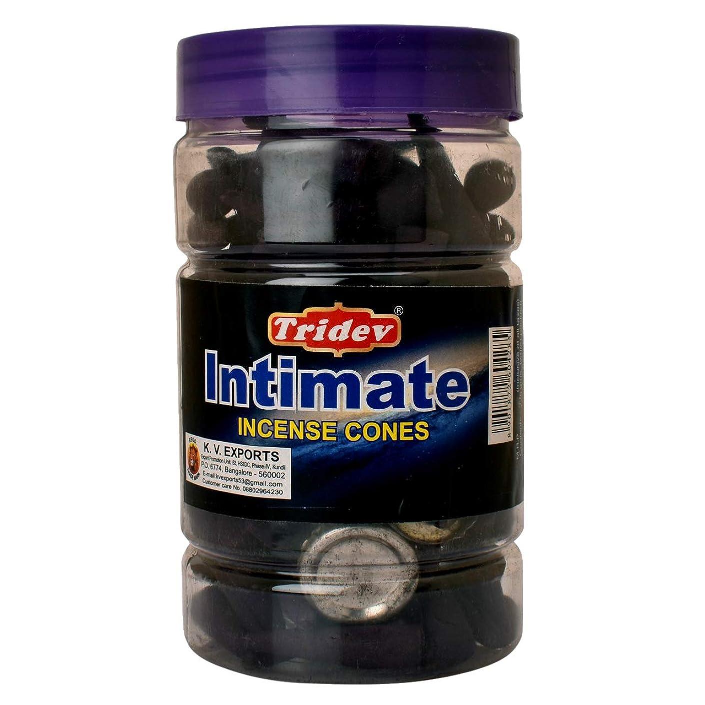 請う月面灰Tridev Intimate Fragrances お香用コーンジャー 1350グラムボックス | 225グラムのジャー6本入り | 輸出品質