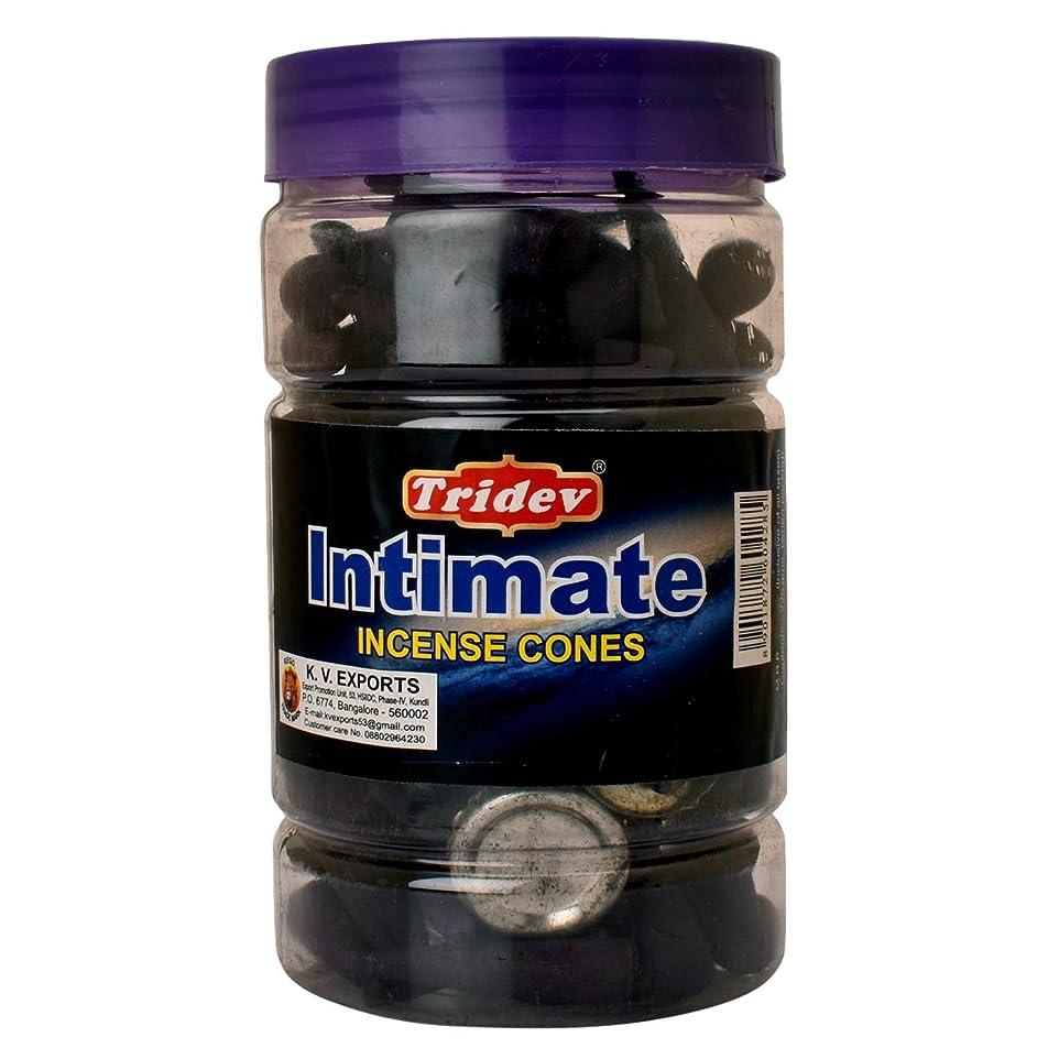 愛されし者関係ロードされたTridev Intimate Fragrances お香用コーンジャー 1350グラムボックス   225グラムのジャー6本入り   輸出品質