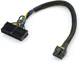 AYA 12-Inch 24-Pin Female to 10-Pin Male ATX Main PSU Power Supply Converter Adapter 18AWG