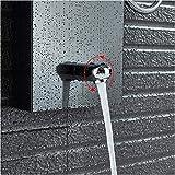 sistema de ducha mampara digital panel de ducha negro soporte de pared luz LED set de ducha columna de ducha torre 3 manijas 2 funciones chorro de masaje color níquel cepillado-negro