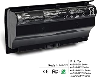 8 Cell A42-G75 Replacement Laptop Battery, Compatible with ASUS G75V G75VW G75VX G75VM G75V 3D G75VW 3D G75VM 3D G75VX 3D, 14.4V 74Wh 5200mAh
