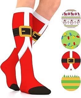 Go2Socks Holiday Compression Socks Women Men Nurses Runners 15-20 mmHG Stockings