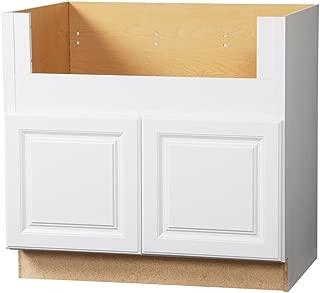 Hampton Bay Hampton Assembled 36x34.5x24 in. Farmhouse Apron-Front Sink Base Kitchen Cabinet in Satin White