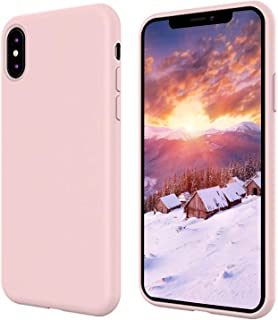 iPhone X Silicone Case, iPhone 10 Silicone Case, Full Body Drop Shockproof Protection Cover Matte Case Gel Rubber Silicone Phone Case with Soft Cushion for Apple iPhone X/iPhone 10(2017) 5.8 inch-Pink