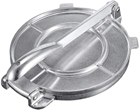 Aluminum Alloy Tortilla Press Folding Handle Flour Tool Baking Corn DIY Pie Tools Kitchen Accessories (Silver, 8in)