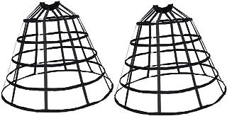 Bequem und Atmungsaktiv non-brand Baoblaze 2x Schwarz Hochzeitskleid Petticoat Krinoline Reifrock Unterrock