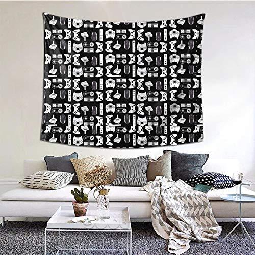 Tapiz para colgar en la pared del dormitorio, sala de estar, diseño de arma de videojuegos, color negro