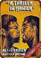 1975アリvsフレイジャースリラマニラアメリカコレクティブルウォールアートブリキ看板