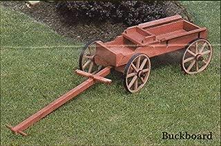 Economy Wooden Buckboard Wagon for Lawn/Garden Amish Made in USA