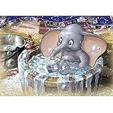 MXJSUA 5D Diamond Painting Kits de Taladro Completo Adultos Rhinestone Pegado Artesanía Hogar Decoración de la Pared 30x40 cm Baño Elefante