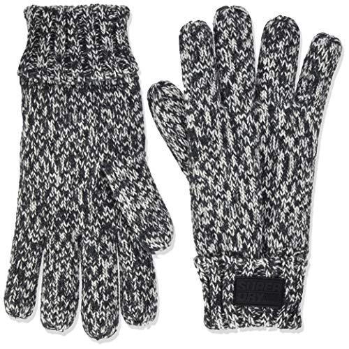 Superdry Herren STOCKHOLM GLOVES Handschuhe, Schwarz (Black Grit NKM), Einheitsgröße