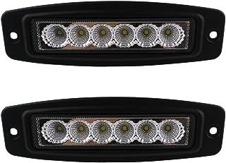 Audak 2Pcs 18W Flush Mount LED Light Bar Off Road Driving Fog Lights Pods for Truck ATV UTV Boat