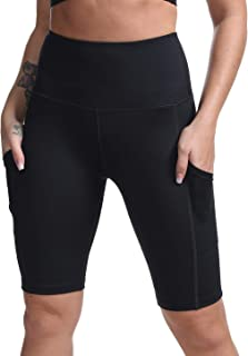 DILANNI Women's Yoga Shorts with Pockets- High Waisted Workout Shorts for Gym Biker