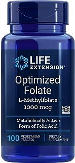 Life Extension. Folato Optimizado. 1.000 mcg. 100 Tabletas vegetarianas