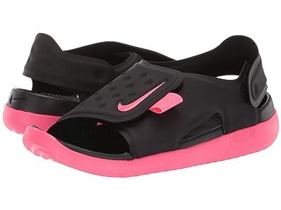 Nike Kids Sunray Adjust 5 (Little Kid/Big Kid) (Black/Racer Pink/White) Girls Shoes
