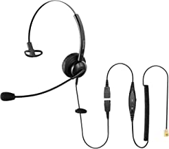 $25 » Sinseng Cisco Telephone Headsets for Landline Phones with RJ9, Hands-Free Headset with Volume Control for Office Phone, Ca...