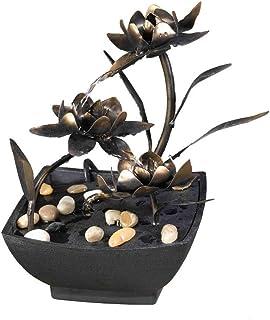 Jeco FCT005 Cadono Metal Flower Tabletop Fountain