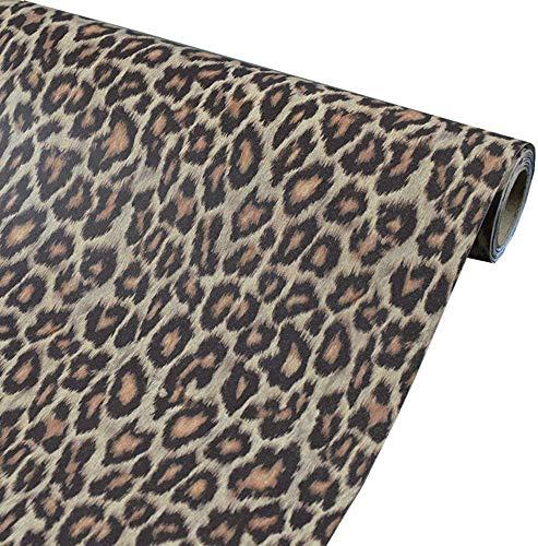 Taogift Vinilo autoadhesivo de película de leopardo para estante de muebles, adhesivo...