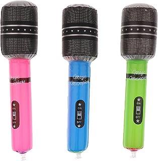 joyMerit 3pcs Micro Microphones Gonflable pour Enfant Couleur Aleatoire