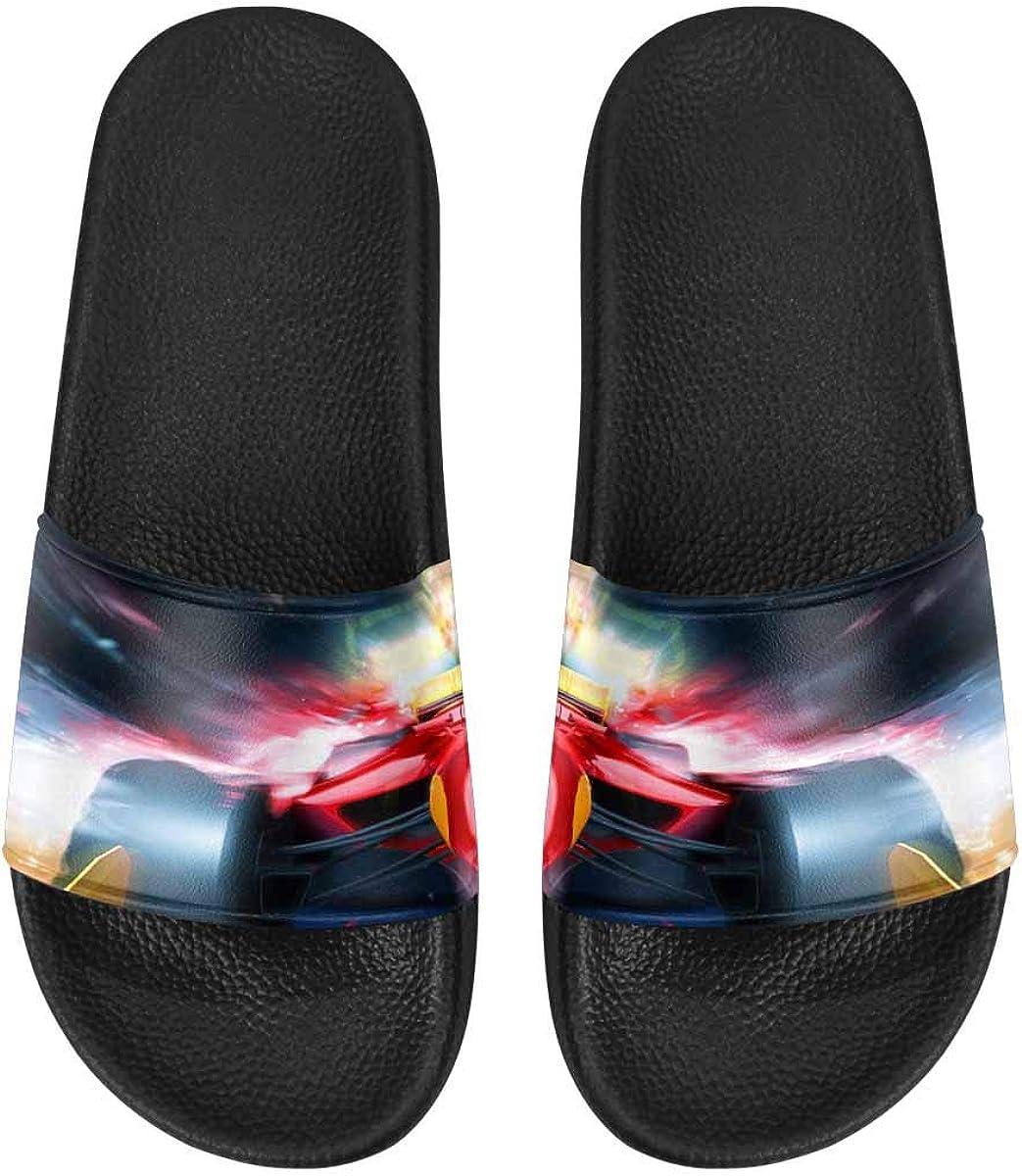 InterestPrint Slide Sandals for Women to Beach or Poor Purple Starfish