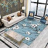 Tapis Accueil Bleu Grand Salon Tapis Moderne Pas Cher Abstraite Floral Chambre Tapis carpettes Chambres Doux pour Enfants Tapis...