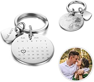Stainless Steel Personalized Custom Name Engraved Date Love Keychain Key Chain