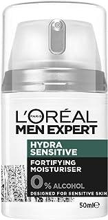 L'Oreal Paris Men Expert Hydra Sensitive Moisturiser For Men, Alcohol-Free, 24 Hour Hydration for Sensitive Skin, 50ml (A4...