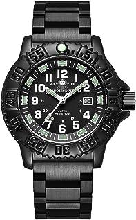 Reloj de Cuarzo para Hombre, Casual, Deportes al Aire Libre, Tubo Luminoso, Reloj Luminoso, Multifuncional, Nailon de la O...