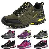 BOLOG Zapatos de Senderismo para Hombre Zapatos de Low Rise Trekking Ocio al Aire Libre y Deportes Zapatillas de Running Trekking de Escalada Zapatos de Montaña Mujer,Verde,EU40