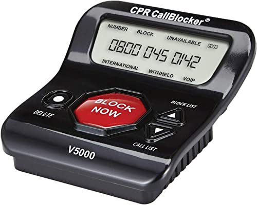 CPR V5000 Call Blocker - Pre-Programmed With 5000 Known Nuisance Callers - Easily Block All Scam and Unwanted Calls o...