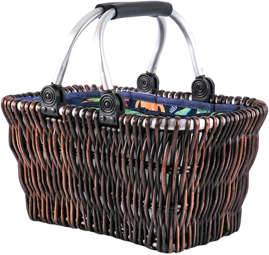 5% OFF toolbox sale Picnic Basket with Blanket Wicker Rattan Portable Insula