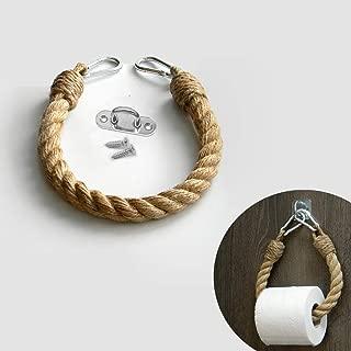 EBINGMIMA Nautical Rope Toilet Paper Holder Bathroom Decor (Jute Rope, 60cm/23.6inches)